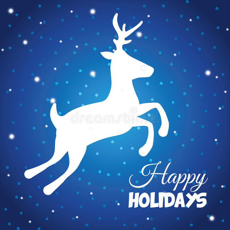 Happy holidays and merry christmas card design. Vector illustration royalty free illustration