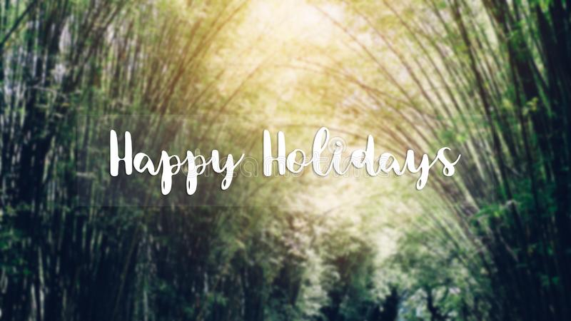 Happy Holidays message on the background is not green royalty free stock photography