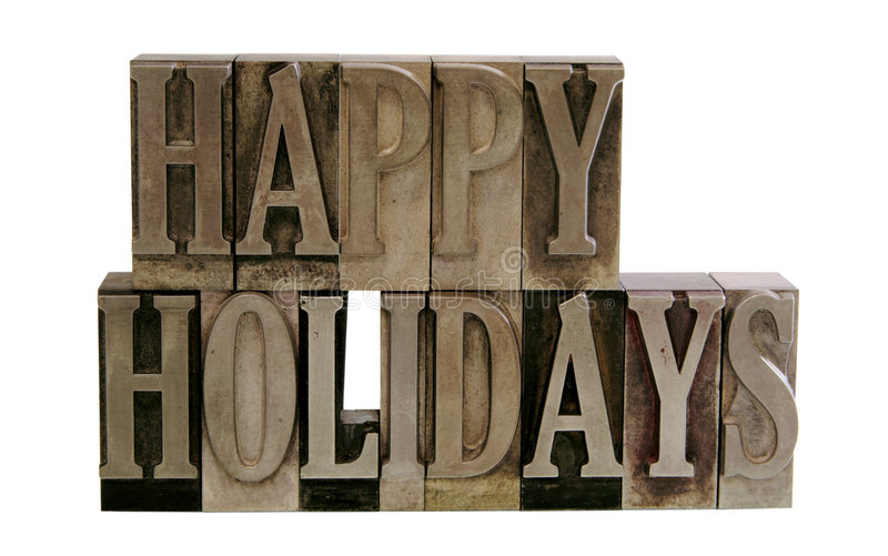 Download Happy Holidays In Metal Type Stock Image - Image: 3822251