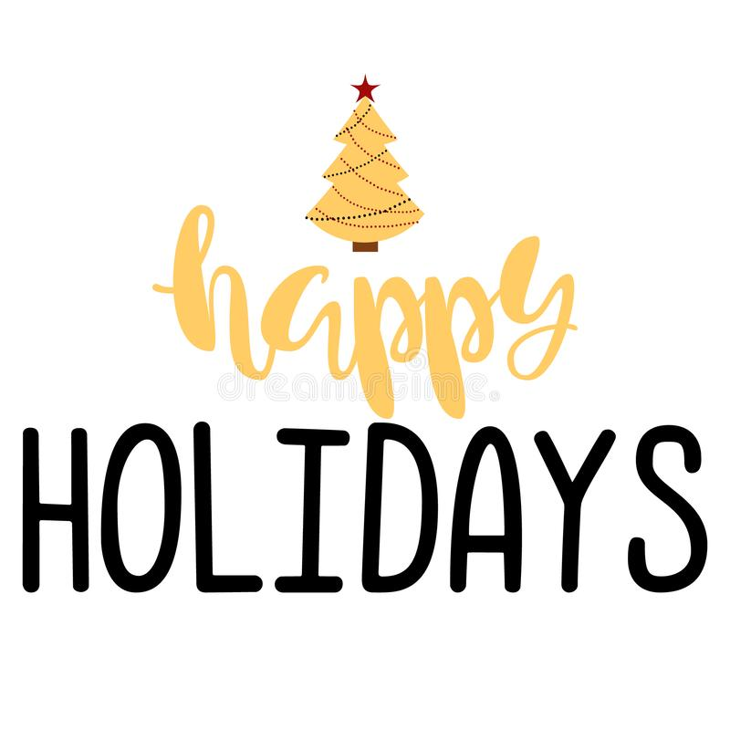 Happy Holidays. Handwritten Lettering. royalty free stock photography
