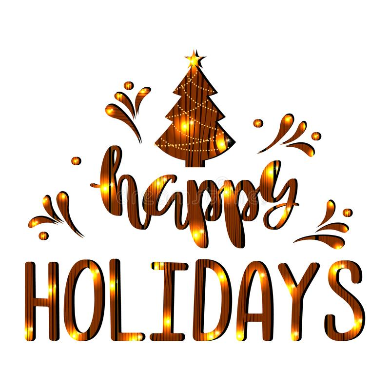 Happy Holidays. Handwritten Lettering. stock photography