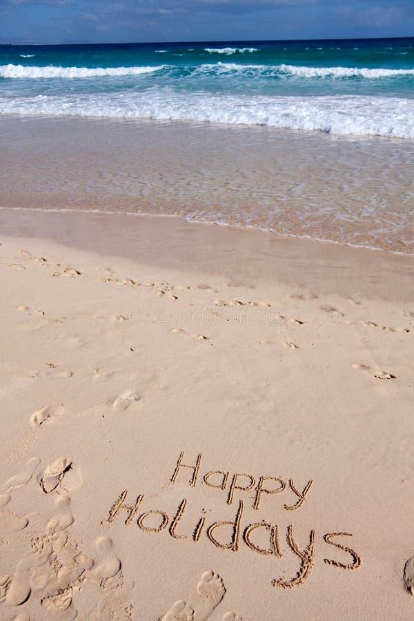 Free Happy Holidays ,on The Sea Royalty Free Stock Image - 12082766