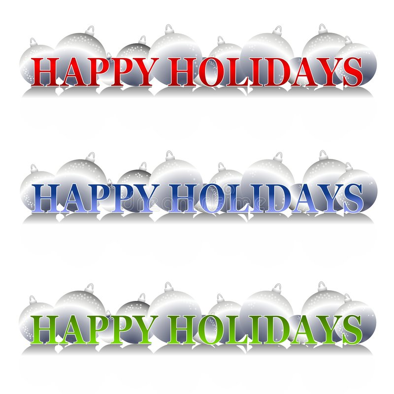 Download Happy Holidays Ornaments Logo Stock Illustration - Illustration of merry, christmas: 3598451
