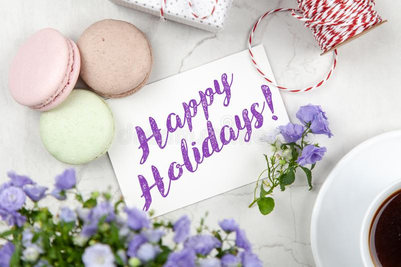 Happy Holidays postcard royalty free stock image