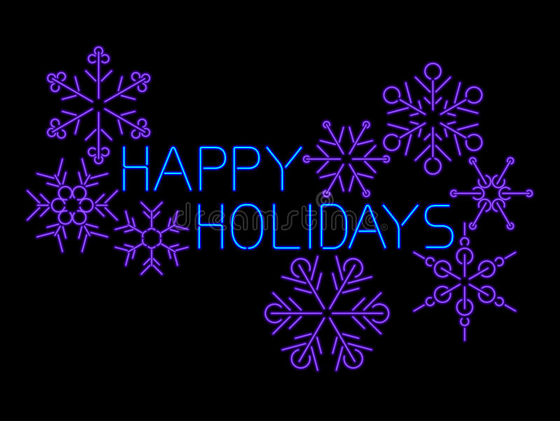 Download Happy Holidays Sign stock vector. Image of blue, glow - 27876424