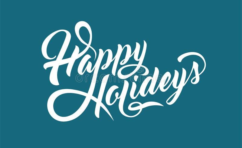 Happy Holidays text stock illustration