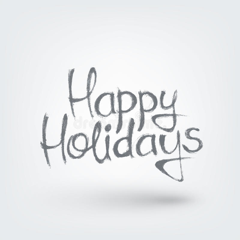 Happy Holidays text design. Happy Holidays hand drawn text design stock illustration