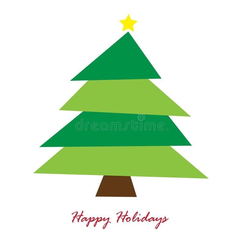 Download Happy Holidays Tree stock vector. Illustration of cute - 22448017