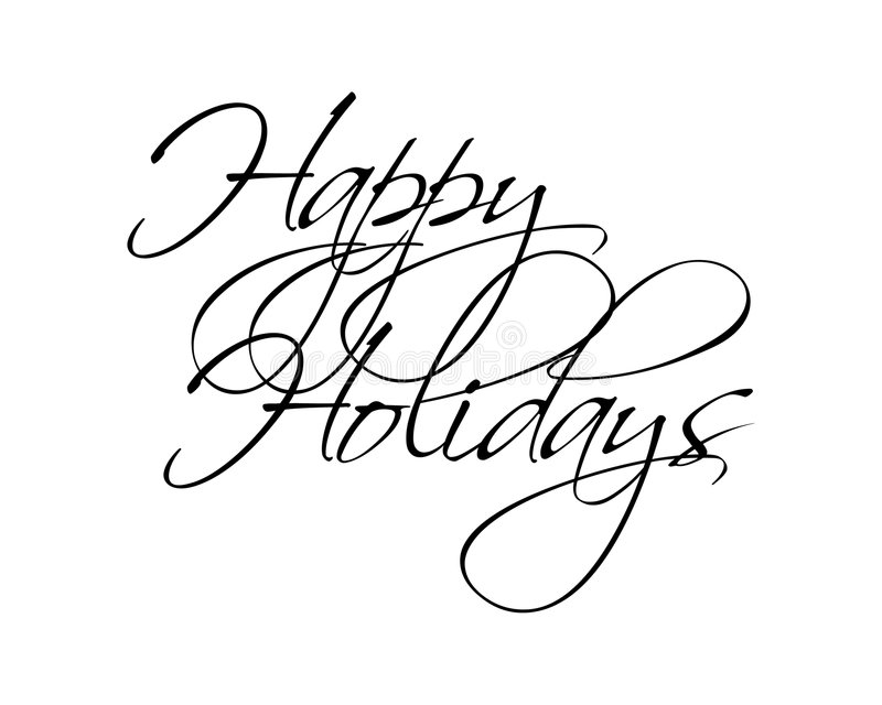 Happy Holidays Type vector illustration