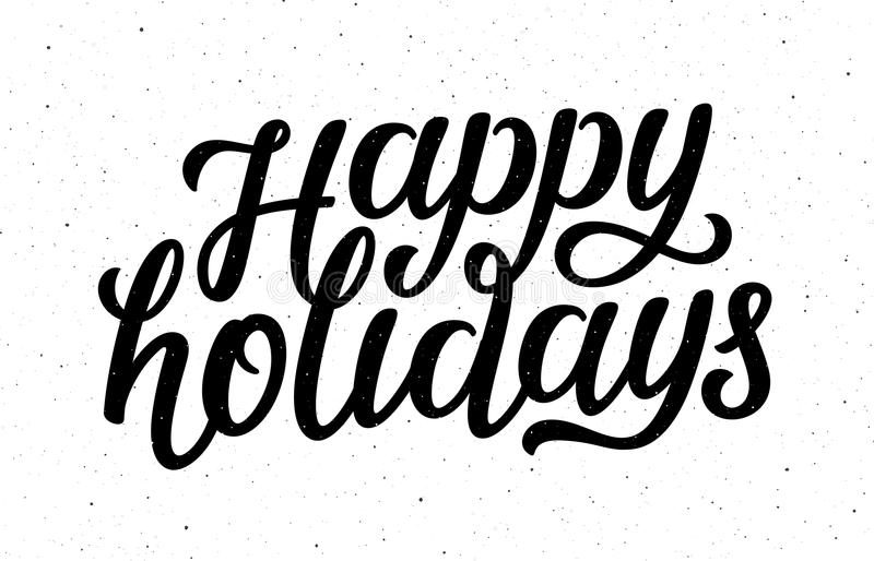 happy holidays vector calligraphic lettering text stock vector rh dreamstime com happy holidays vector images happy holidays banner vector