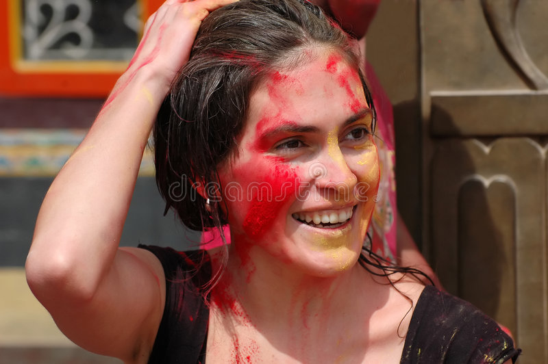 Download Happy Holy! stock photo. Image of celebrate, painted, colorful - 9167658