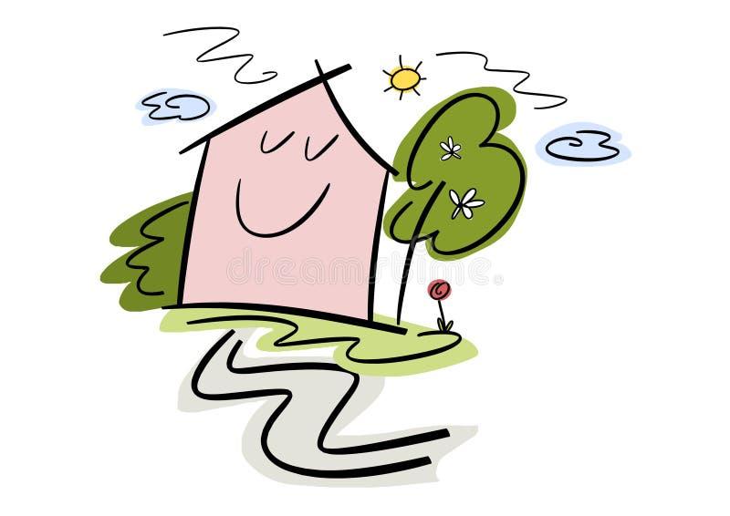 Happy Home vector illustration
