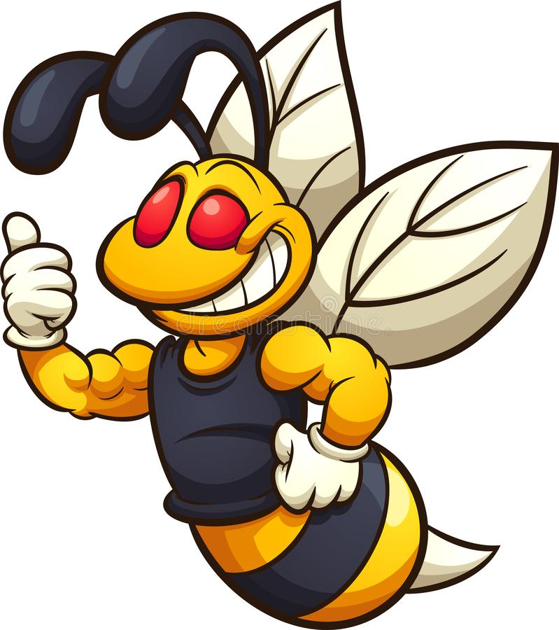 Free Happy Hornet, Wasp, Or Bee Mascot Stock Photography - 139954552
