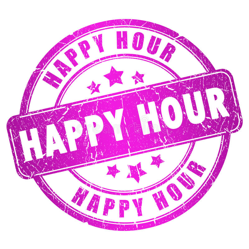 Happy hour royalty free illustration