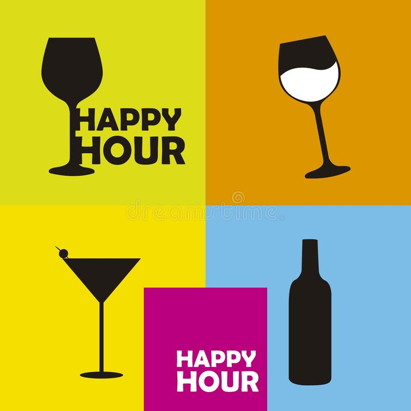 Download Happy hour stock vector. Image of liquor, club, colorful - 26627023