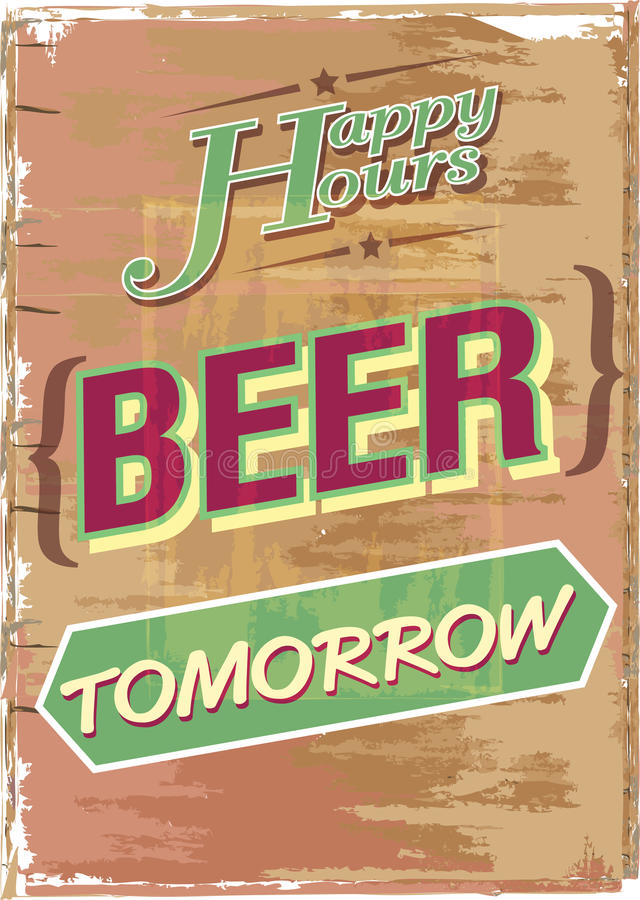 Happy hour illustrazione vettoriale