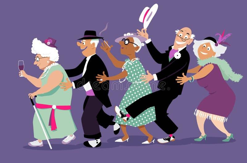 Happy hour ilustração royalty free