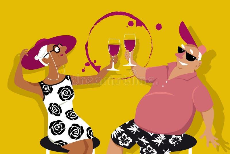 Happy hour ilustração stock