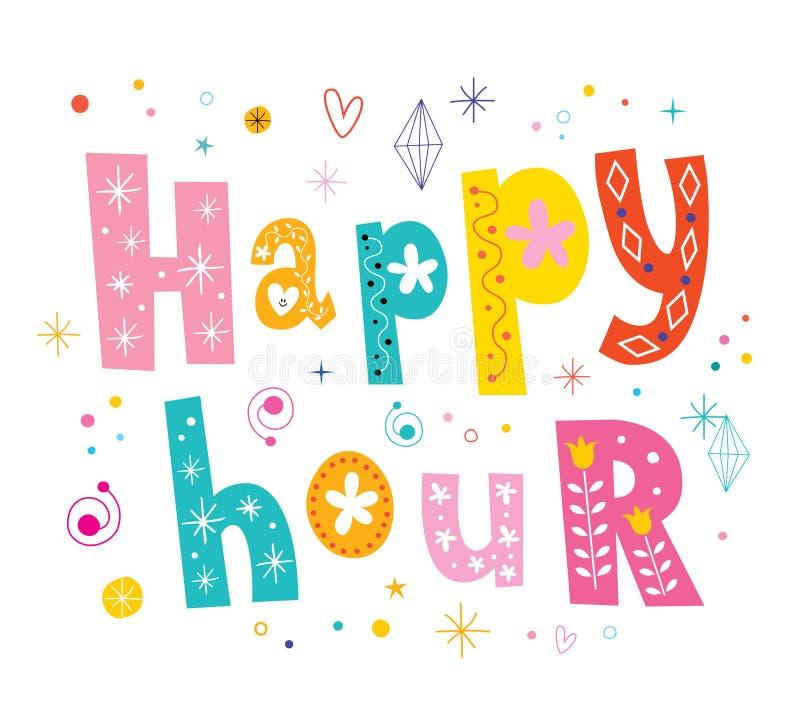 Happy hour royalty free illustration