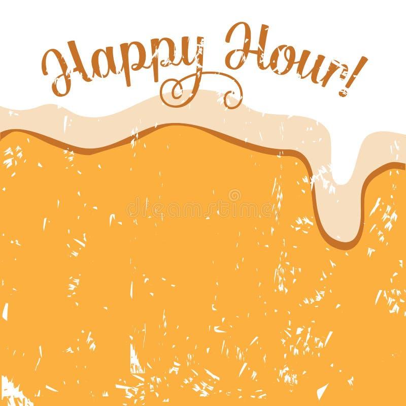 Happy hour beer background royalty free illustration stock illustration