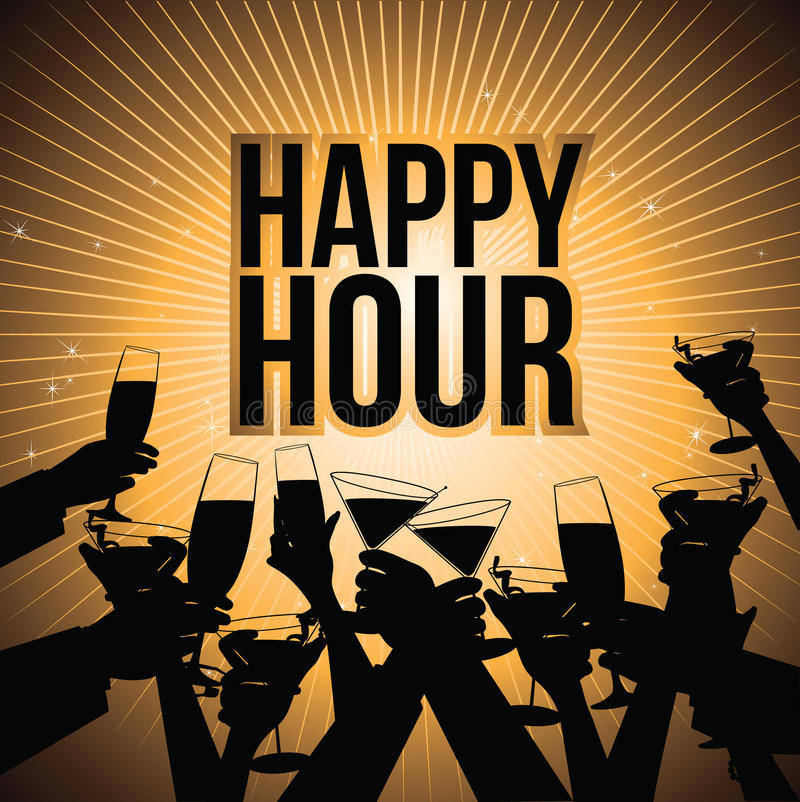 Happy hour beer background royalty free illustration royalty free illustration