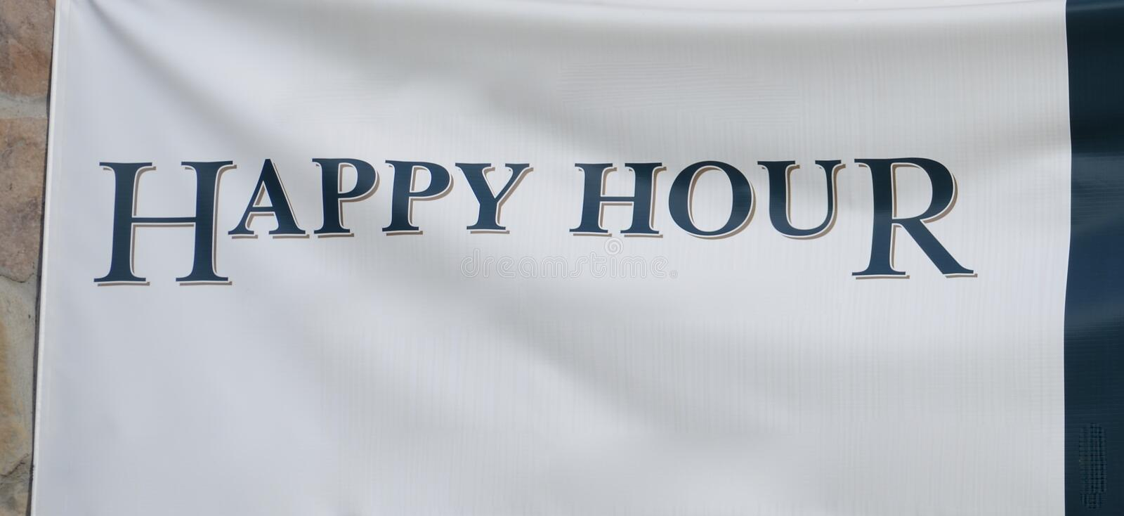 Happy Hour at the Cocktail Bar royalty free stock image