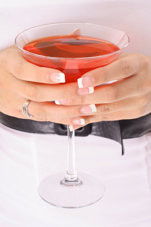 Happy hour cocktails. Shot of happy hour cocktails royalty free stock photo