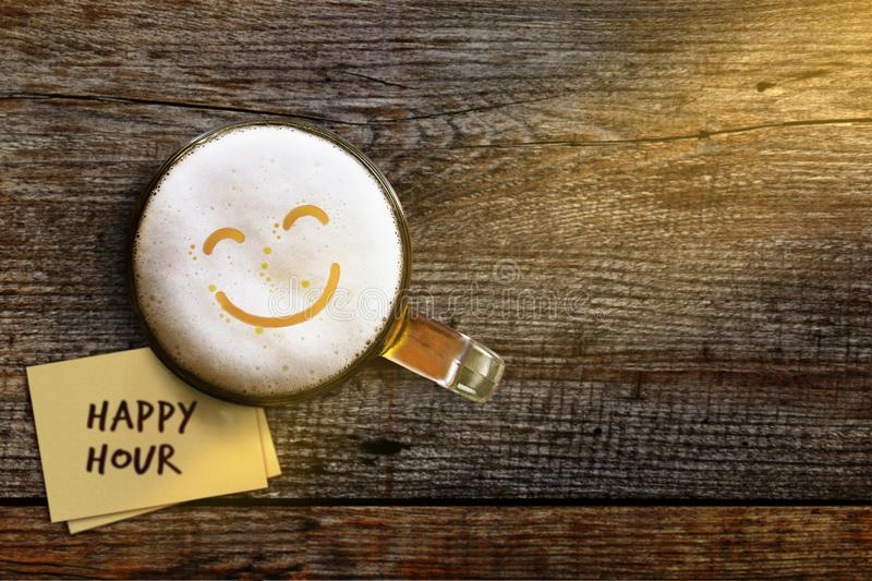 Happy Hour Concept for Bar, Cafe or Night club to Promote an Off royalty free stock photo