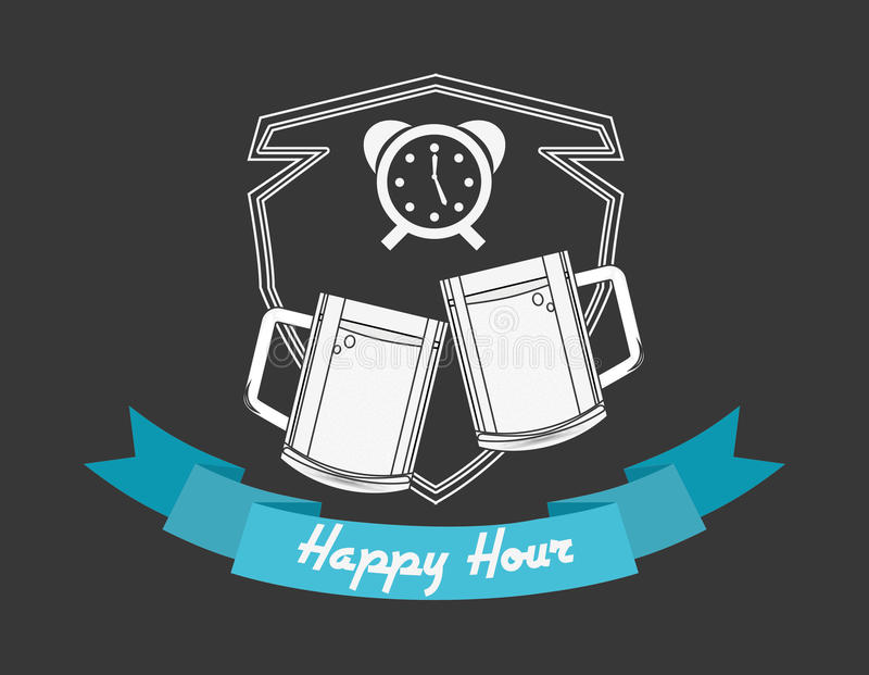 happy hour design royalty free illustration