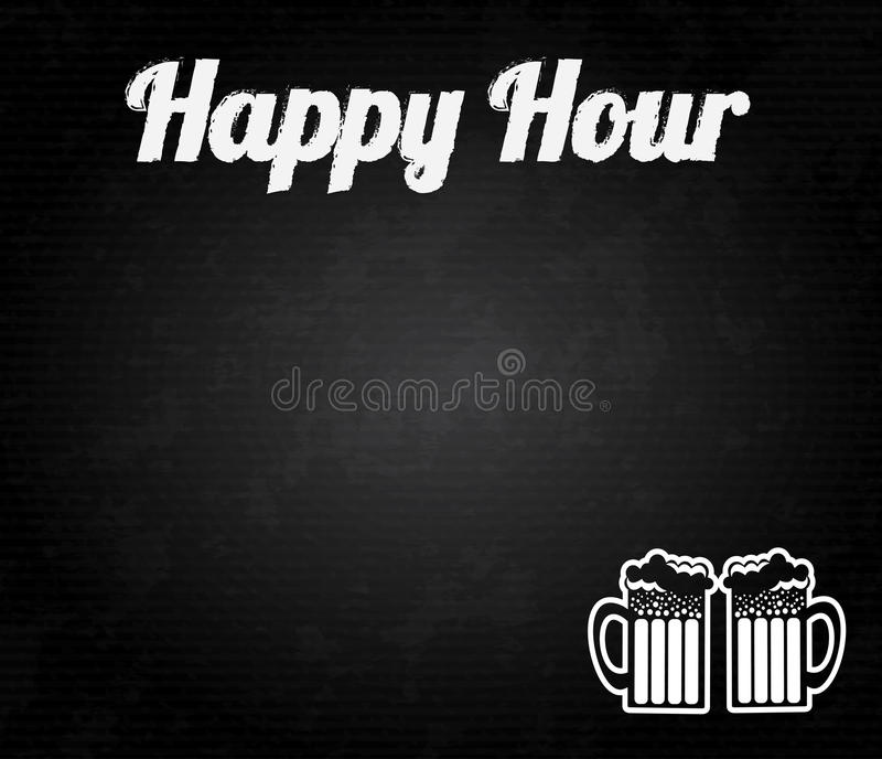 Happy hour design royalty free illustration