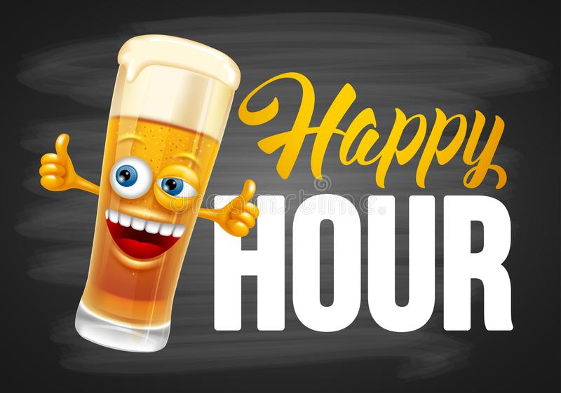 Happy Hour Design Template stock illustration