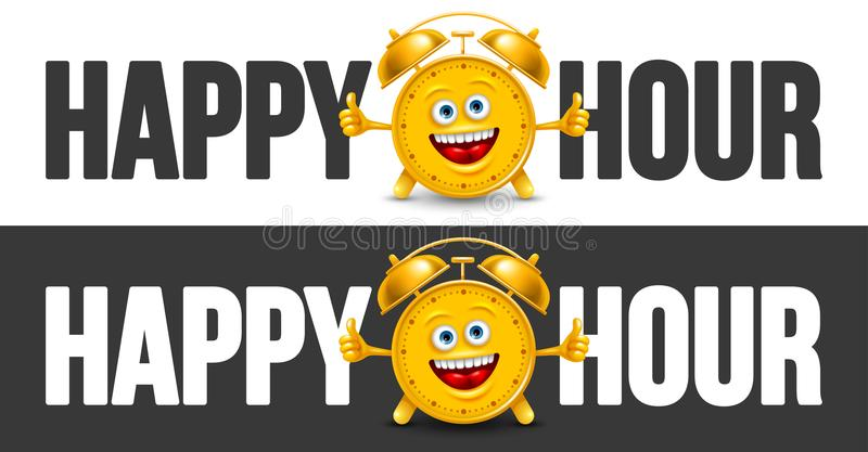 Happy Hour Designs Set royalty free illustration