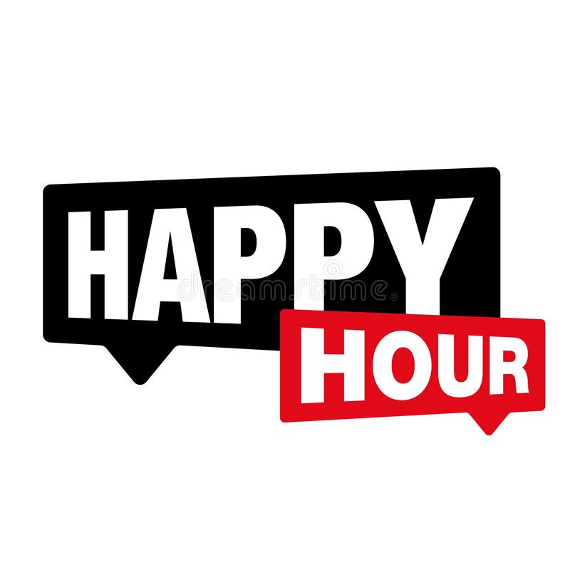 Happy Hour label sign royalty free illustration