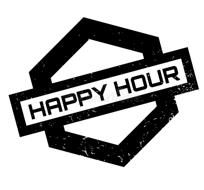 Happy Hour rubber stamp stock illustration