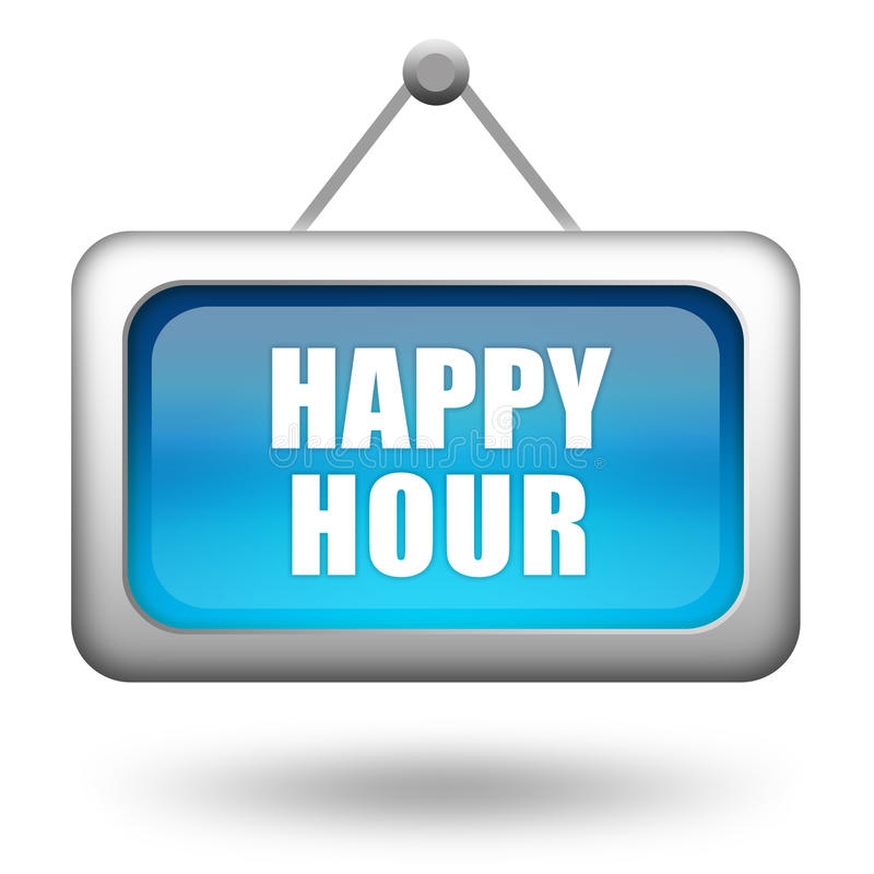 Happy hour sign vector illustration