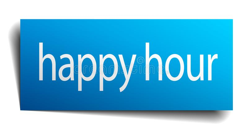 happy hour sign royalty free illustration