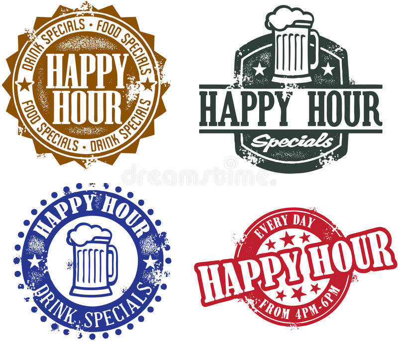 Happy Hour Specials royalty free illustration