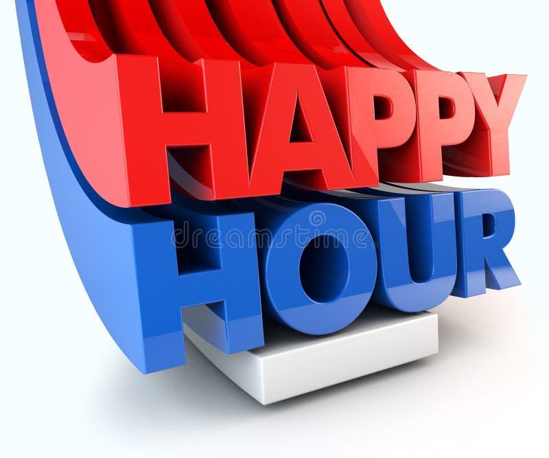 Happy hour vector illustration