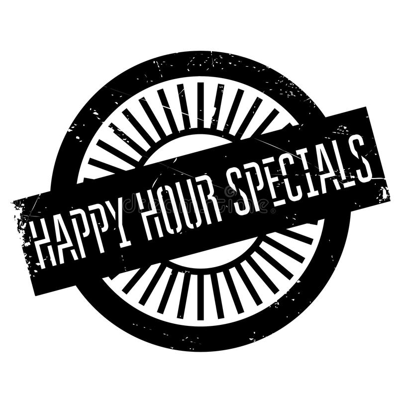 Happy hour specials stamp royalty free illustration
