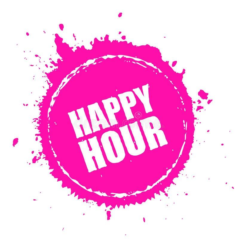 Happy hour splashing vector icon stock illustration