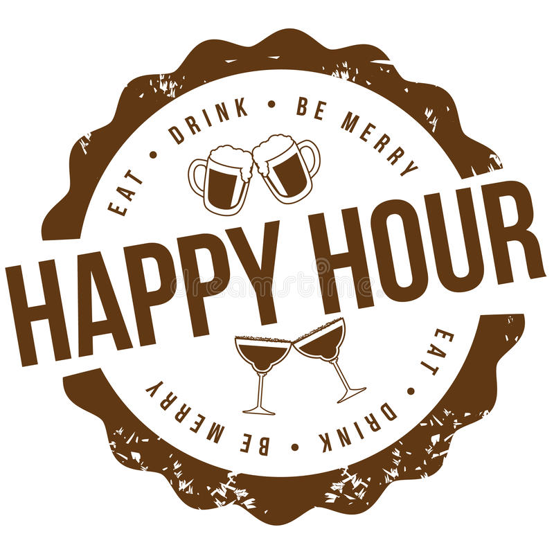 Happy hour stamp EPS 10 vector stock illustration