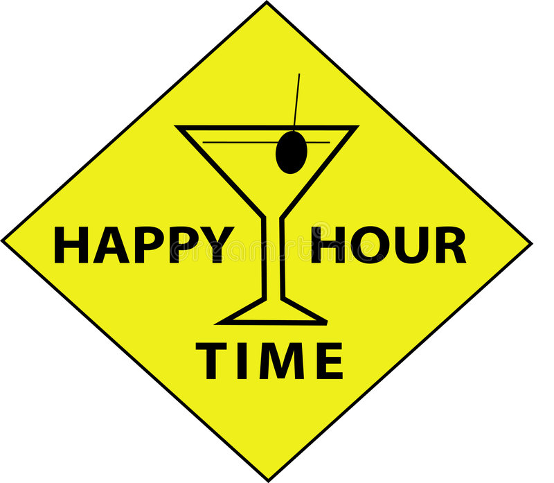 Download Happy Hour Time (Sign) stock vector. Illustration of funny - 5430528