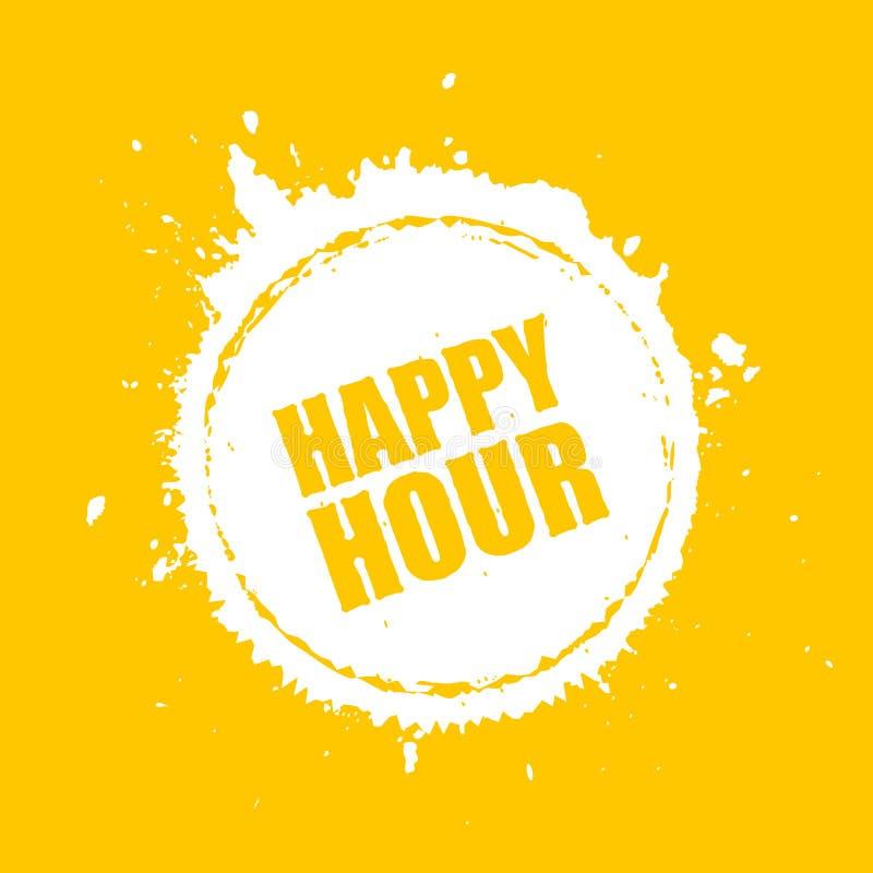 Happy hour vector blot icon stock illustration
