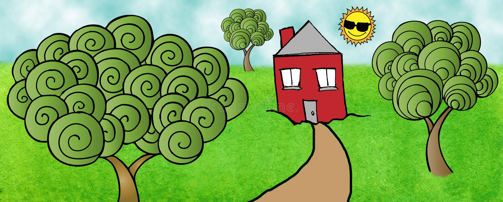 Download Happy House stock illustration. Image of dream, graphic - 19738167