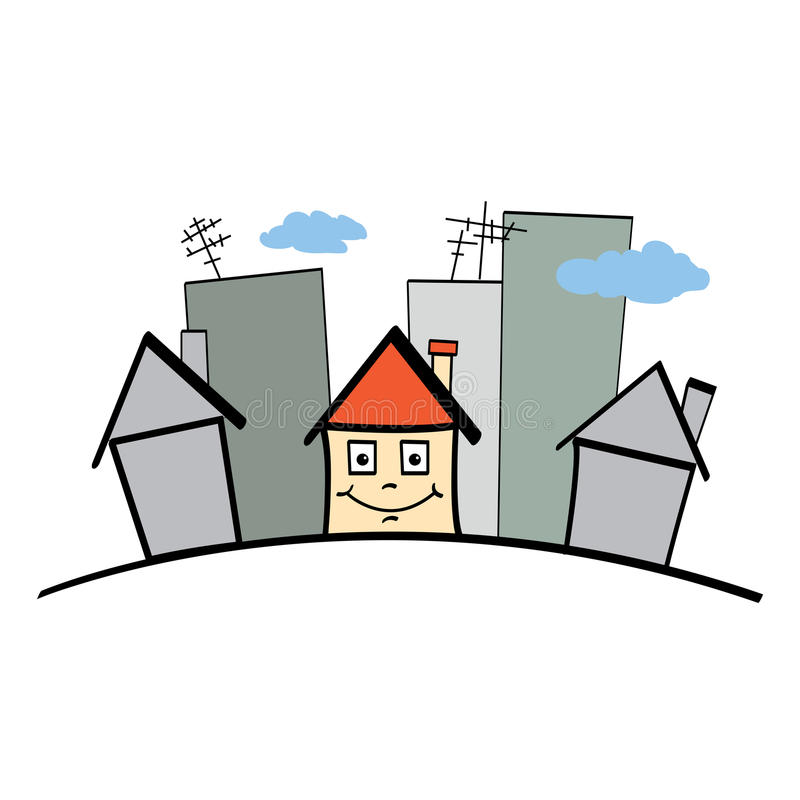 Download Happy house stock illustration. Image of cheerful, cartoon - 22803603