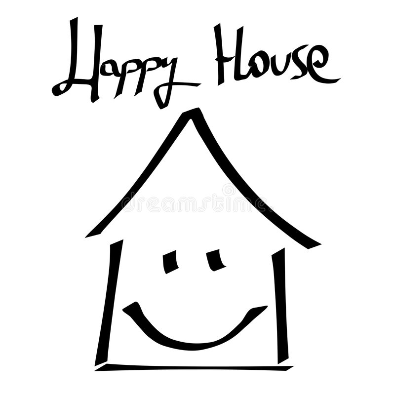 Superb Download Happy House Stock Illustration. Illustration Of Typography    8034485