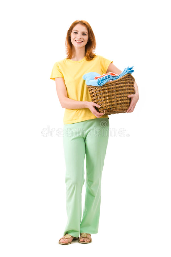 Happy Housekeeper Royalty Free Stock Photography