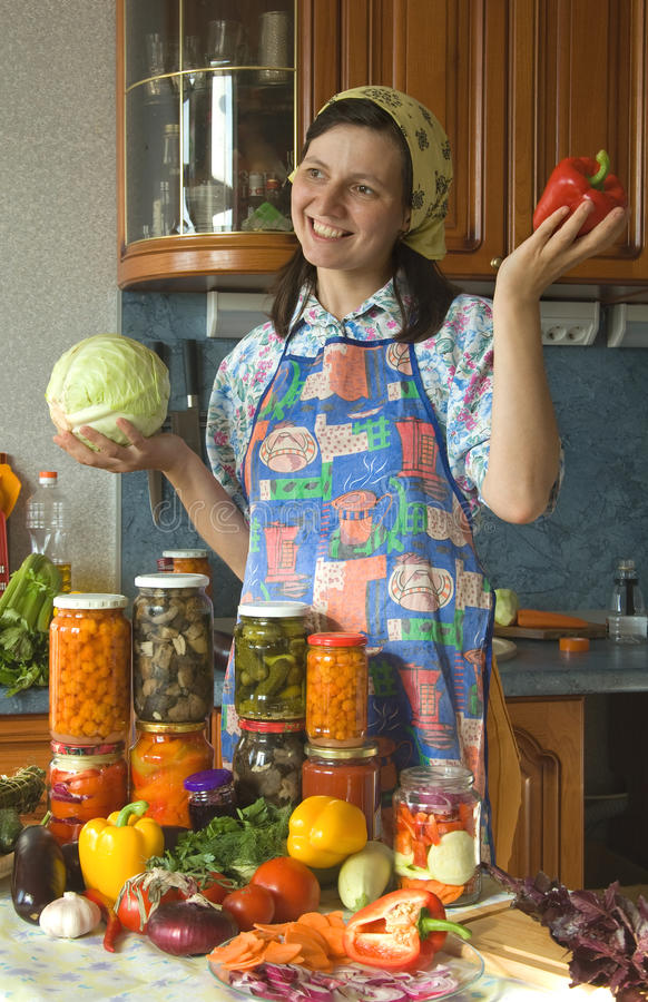 Download Happy Housewife Royalty Free Stock Image - Image: 20277856