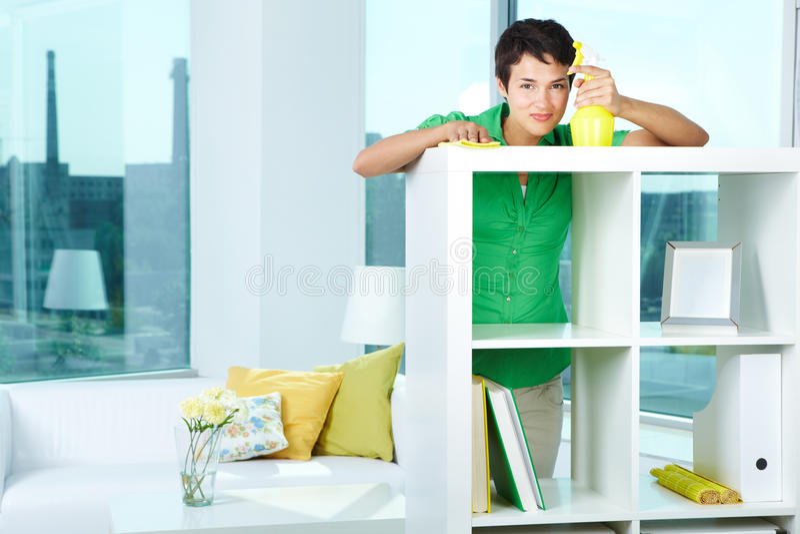 Happy Housewife Stock Photo