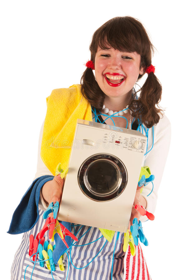 Download Happy housewife stock image. Image of funny, girl, exciting - 27819677